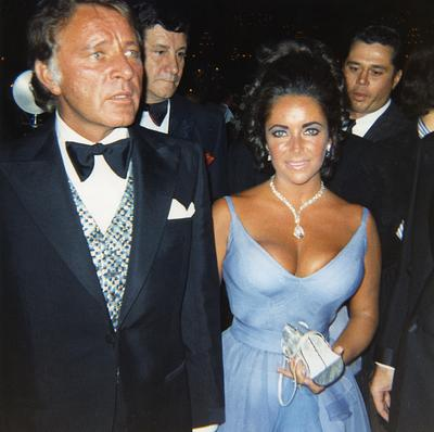 Elizabeth Taylor with Richard Burton, at the 42nd Academy Awards® on April 7, 1970