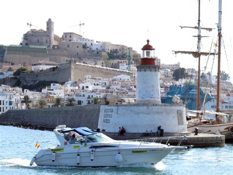 The Ibiza seaport