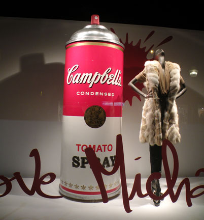 Michael Kors and Campbell's Soup Spray Paint
