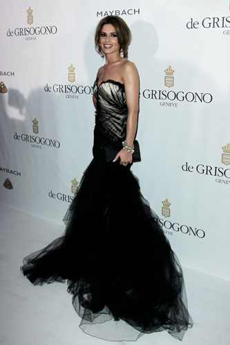 Cheryl Cole in Roberto Cavalli with de Grisogono jewels