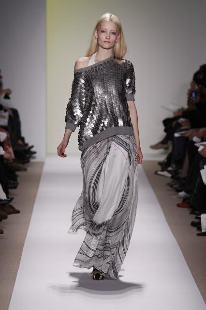 Metallic sequins shown on the Adam fall 09 runway