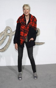 Agyness Deyn in her more familiar rocker girl look wearing Genetic denim