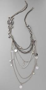 Alice + Olivia  Long Crystal Chain Necklace at Shopbop