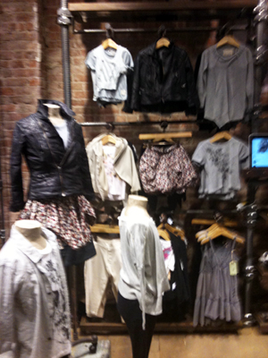 AllSaints Spitalfield SoHo, NY store children's department