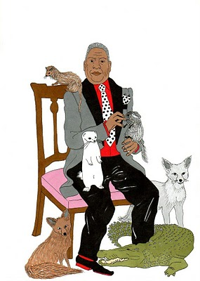 Humor Chic New York Fashion Week animal tendency - André Leon Talley, Wear it Before it Eats You!