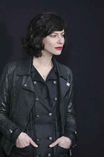 Anna Mouglalis in the perfect biker jacket