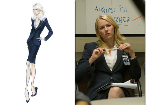 """When I saw the photo of Valerie courageously testifying before Congress, I wanted to play a part in this project.  To me, that exemplified a power suit moment.  After meeting Naomi and Valerie in Cannes this year when the film was in competition, I was proud to be associated with and dressing these strong and stunning women."""