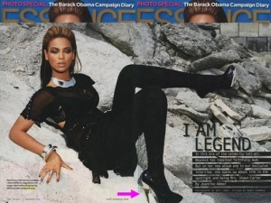 Beyonce wears the Flash pumps in Essence Magazine.