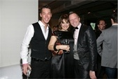 David Bromstad, Sharon Haver, Brad Boles at the GLAAD Auction. Photo thumb via: Patrick McMullan Company