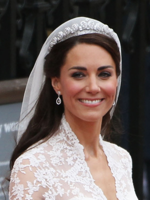 Catherine Duchess of Cambridge's hair is classic in an Audrey Hepburn kind
