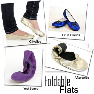 Foldable flats from Fit in Clouds, Aftersole, Yosi Samra, and Citislips