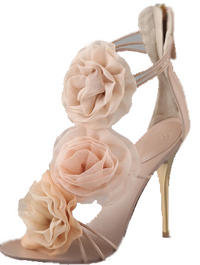 Absolute Indulgence: Gorgeous, YES! But, MAYBE, you will wear them once a year. Love them more on sale for for a VERY special night- Giuseppe ZanottiChiffon Rosette Sandals