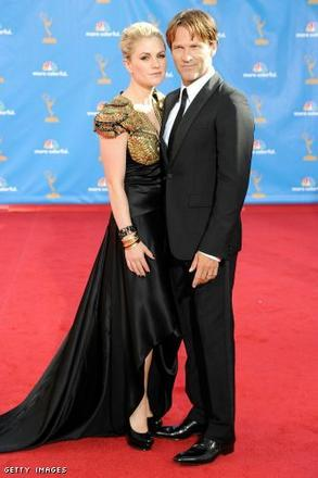 Anna Paquin & Stephen Moyer arrive at the 62nd Annual Primetime Emmy Awards