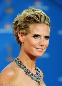 Heidi Klum with her updo at the Emmy's