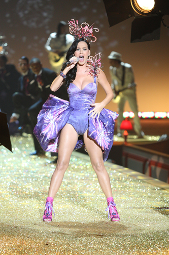 Katy perry performs in a Todd Thomas costume at the Victoria's Secret Fashion Show 2010