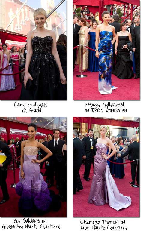 The Oscar fashion risk takers