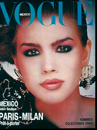 Debbie Dickinson on the cover of Vogue Mexico