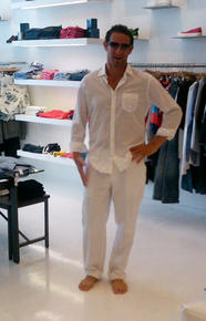 Rob picked out this new white linen outfit