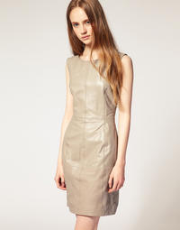 Selected Femme Bella Leather Dress on SALE at ASOS