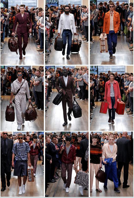 Trussardi- Men's Collection Fashion Show by Umit Benan at Palazzo Trussardi in Piazza della Scala in Milano
