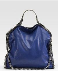 Stella McCartney Shaggy Deer Falabella Small Tote in French Blue at Saks.com
