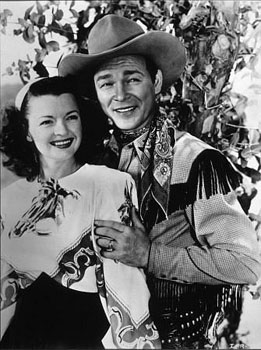 The iconic Dale Evans and Roy Rodgers