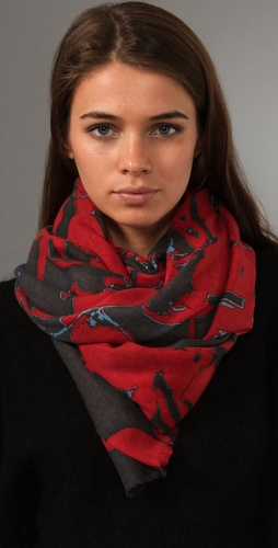 YARNZ  Big Floral Cashmere Scarf at Shopbop.com