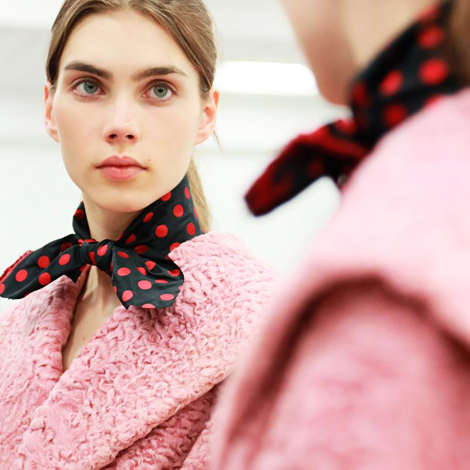 MIU MIU FALL/WINTER 2013 FITTINGS + HAIR & MAKEUP