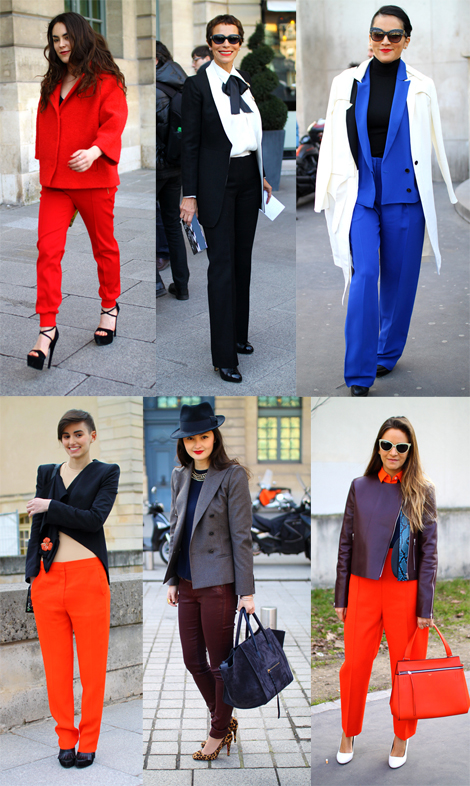 Modern Pants Suits- Paris Fashion Week Street Style