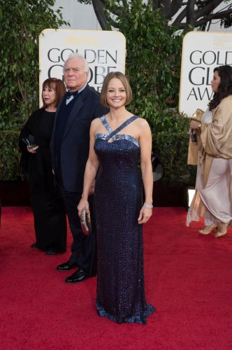Jody Foster in custom Armani