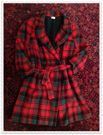 My vintage Geoffrey Beene red plaid coat may come out of retirement soon.