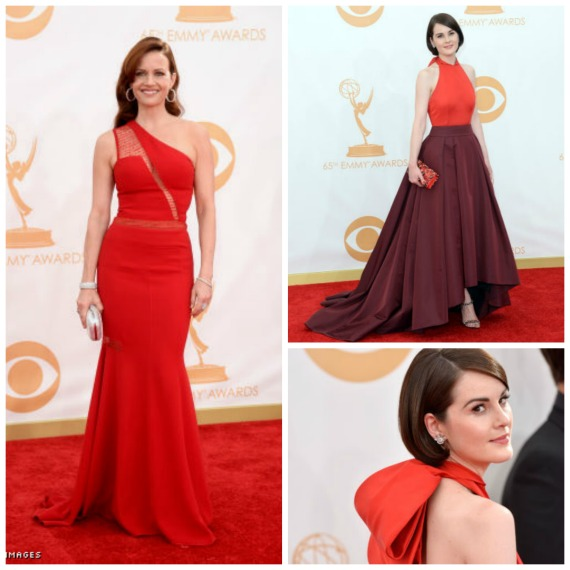 Carla Gugino in Edition by Georges Chakra  and Michelle Dockery in Prada