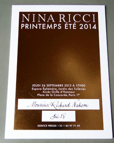 My handwrttien, personal invitation- la-di-da