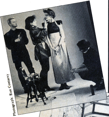 A rare photo of me on a photo shoot and it's becuase it was in a magazine! New Woman magazine did a feature story about me and here I am in a snippet photo as a stylist on the set with <a href=