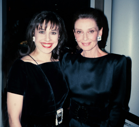 Sharon Haver with her style icon Audrey Hepburn. Photo: Patrick McMullan