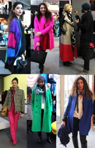 Color blast street style at NYFW