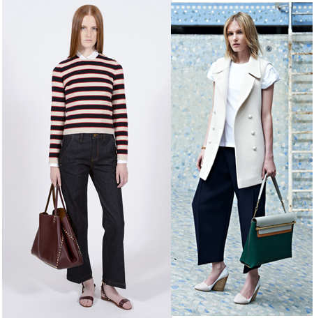 The New Crop: Flare & cropped pants from Valentino resort 2014 and full & tapered from Chloe resort 2014