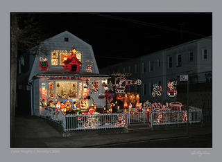 Dyker House Christmas House as photographed by Mark Moskin