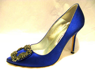 "WIN MANOLO BLAHNIK'S ""SOMETHING BLUE"" SHOES FROM CARRIE'S CLOSET IN SEX AND THE CITY"