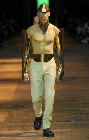 MUGLER Men's ready to wear collection by Creative Director Nicola Formichetti Spring Summer 2012