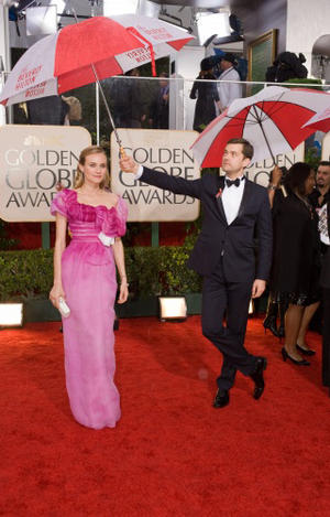 Actress Diane Kruger and actor Joshua Jackson arrive at the 67th Annual Golden Globes Awards at the Beverly Hilton in Beverly Hills, CA Sunday, January 17, 2010